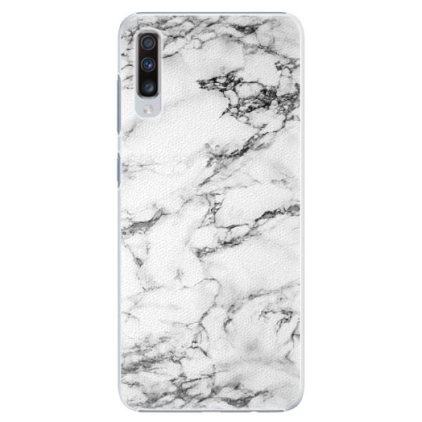 Plastové pouzdro iSaprio - White Marble 01 - Samsung Galaxy A70