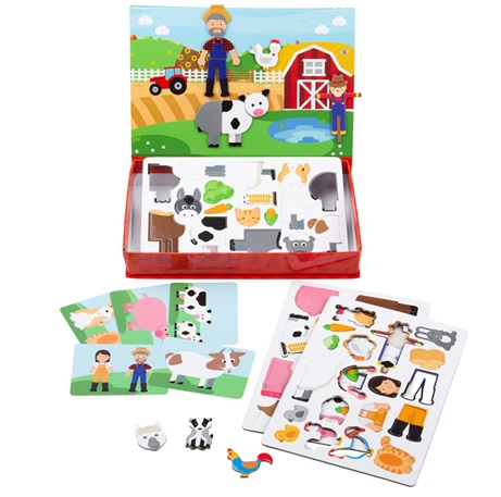 Bigjigs Toys Magnetické oblékací puzzle Farma
