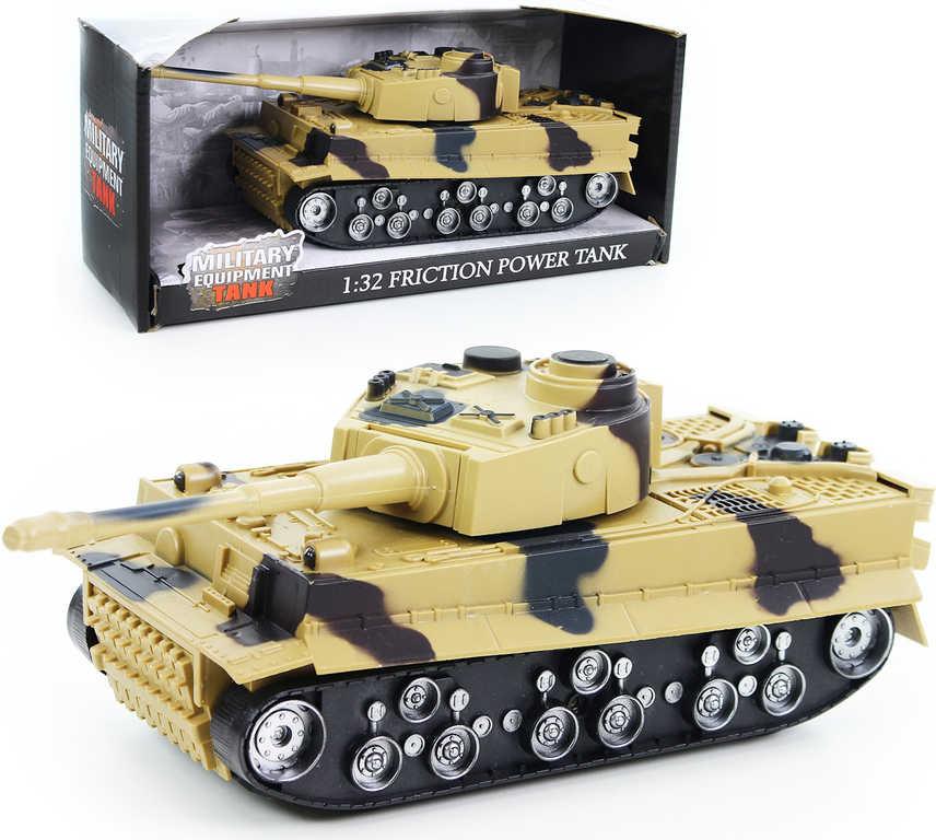 Tank plastový model 1:38 na baterie béžový