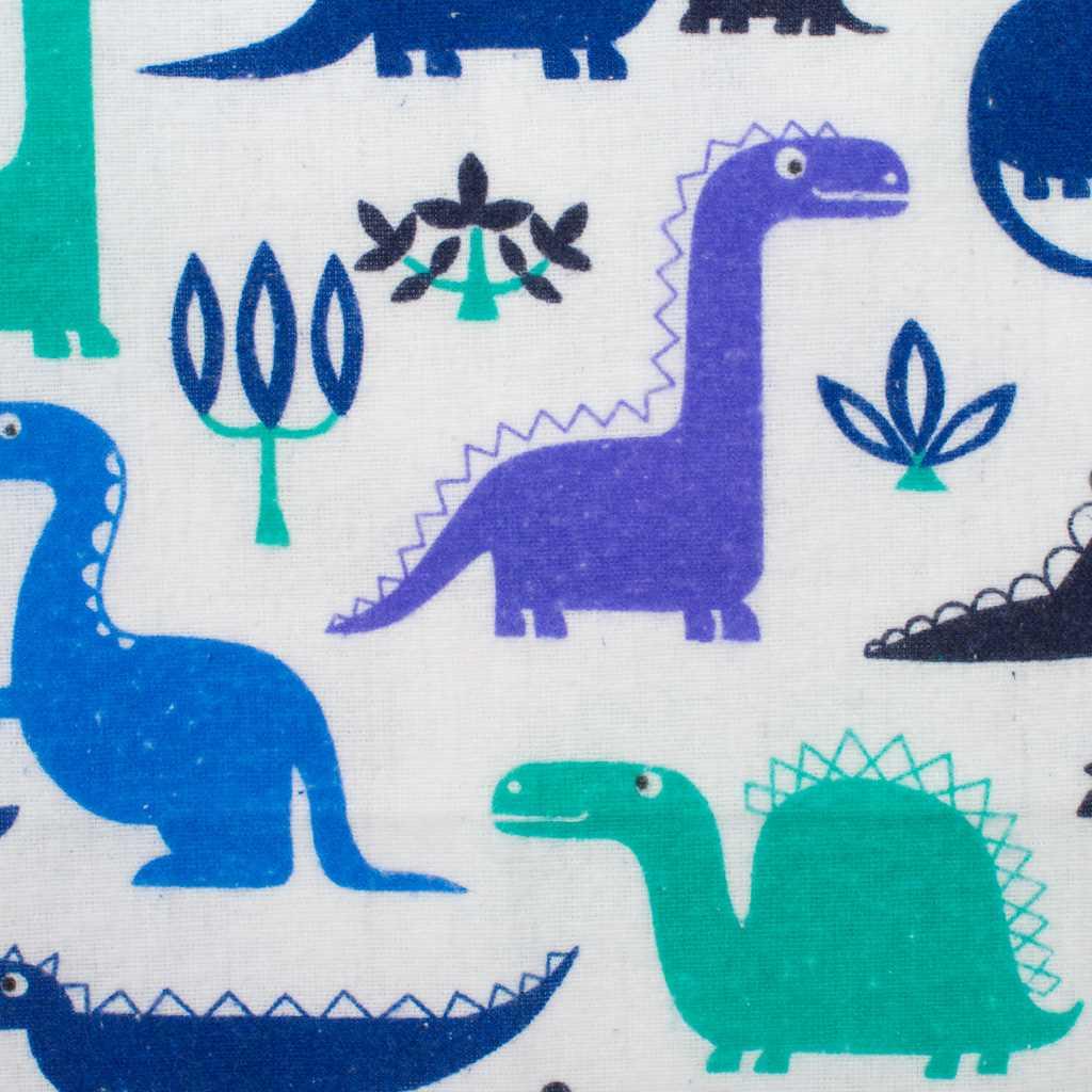 Nepromokavá flanelová podložka New Baby dinosaur - modrá