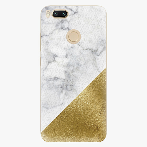 Plastový kryt iSaprio - Gold and WH Marble - Xiaomi Mi A1