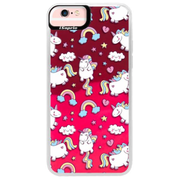 Neonové pouzdro Pink iSaprio - Unicorn pattern 02 - iPhone 6 Plus/6S Plus