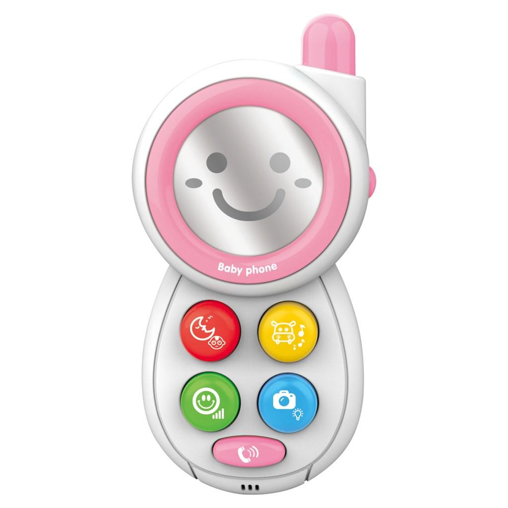 Dětský telefónek se zvuky BAYO - pink - růžová