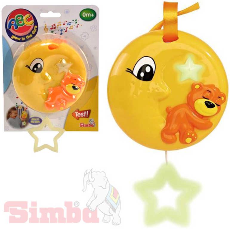 SIMBA Baby měsíček hudební natahovací usínáček svítí ve tmě