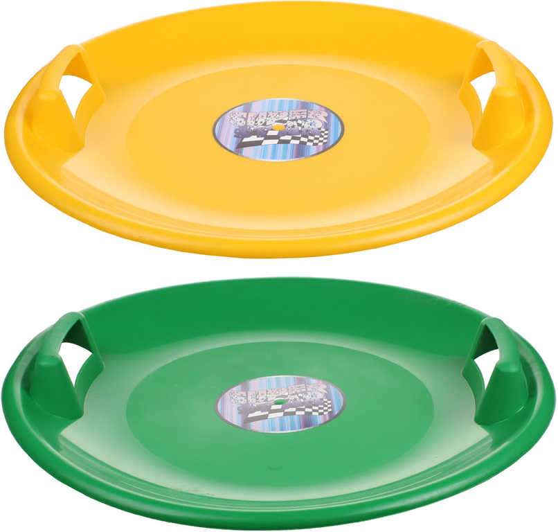 ACRA Sáňkovací talíř SUPERSTAR 60cm s držadly 3 barvy plast
