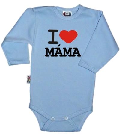 baby-dejna-body-dl-rukav-kolekce-i-love-mama-sv-modre-vel-74-74-6-9m