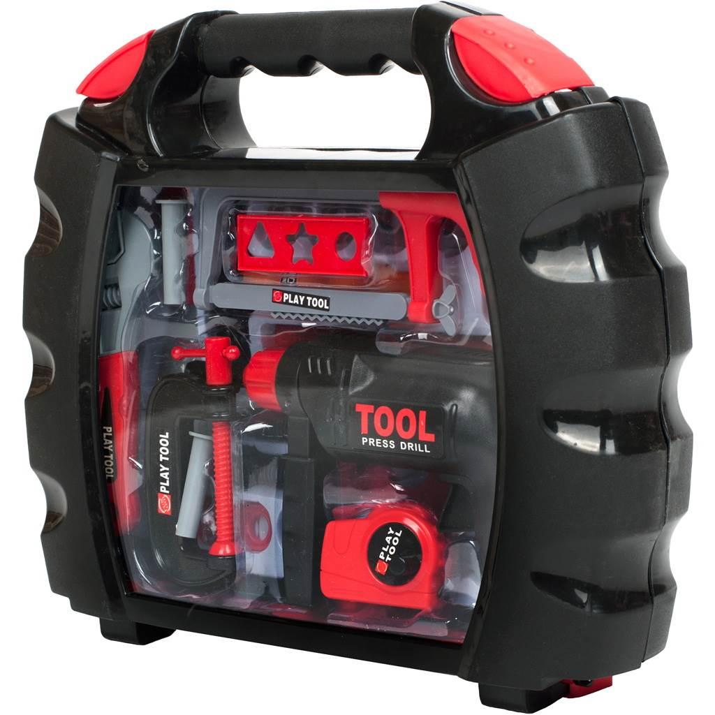 Dětské nářadí v kufříku Bayo - 10 ks - červená