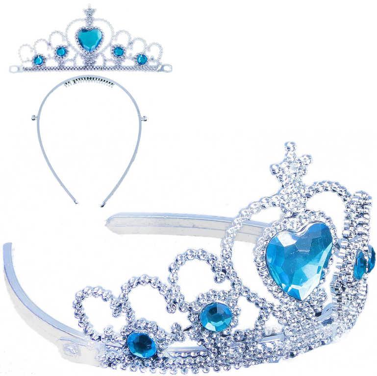 KARNEVAL Korunka zimní princezna s kamínky plast *KARNEVALOVÝ DOPLNĚK*