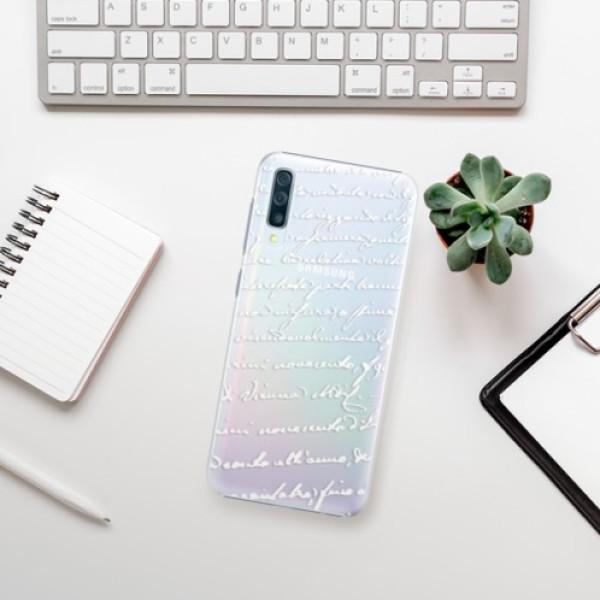 Plastové pouzdro iSaprio - Handwriting 01 - white - Samsung Galaxy A50