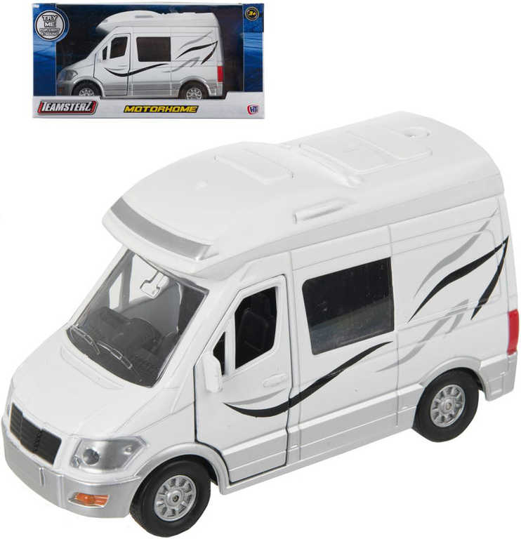 Teamsterz karavan bílý obytný přívěs 14cm kov v krabici