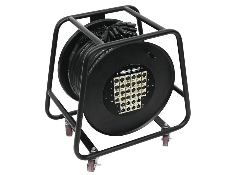 Multicore kabel 24 IN/8 OUT XLR, 30 m na kabelovém bubnu