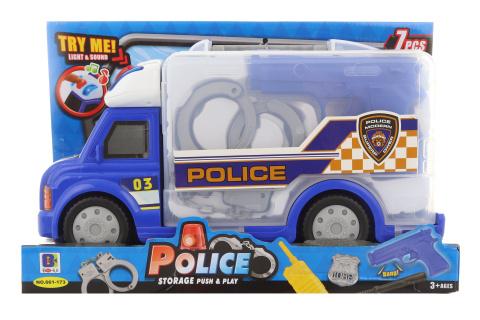 Policejní sada v autě na baterie