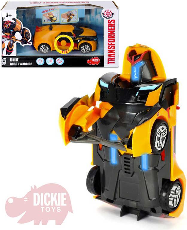 DICKIE TRANSFORMERS Warrior Autobot Drift 15cm transrobot na baterie Světlo Zvuk