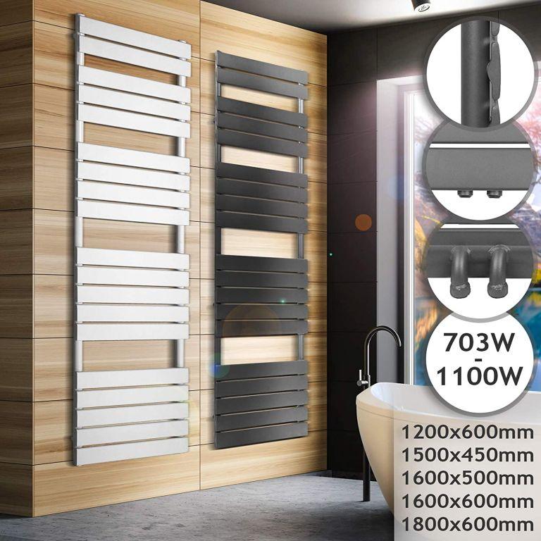 Koupelnový radiátor 1500 x 450 mm, bílý