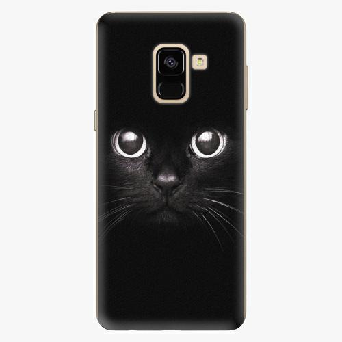 Plastový kryt iSaprio - Black Cat - Samsung Galaxy A8 2018