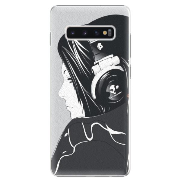 Plastové pouzdro iSaprio - Headphones - Samsung Galaxy S10+