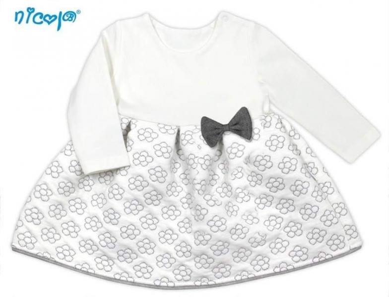 Nicol Kojenecké šaty Lady - bílé s potiskem květin, vel.