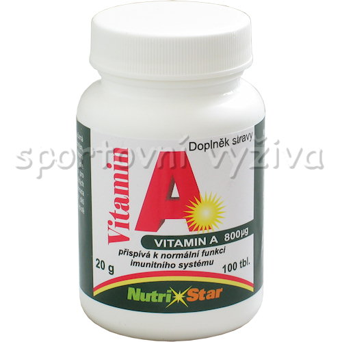 Vitamín A 800mg 100 tablet