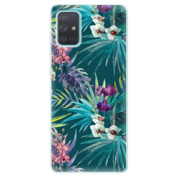 Odolné silikonové pouzdro iSaprio - Tropical Blue 01 - Samsung Galaxy A71