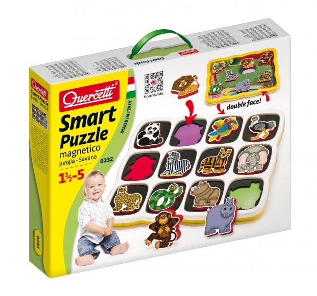 Quercetti Smart puzzle magnetico Jungla plus Savana 0232