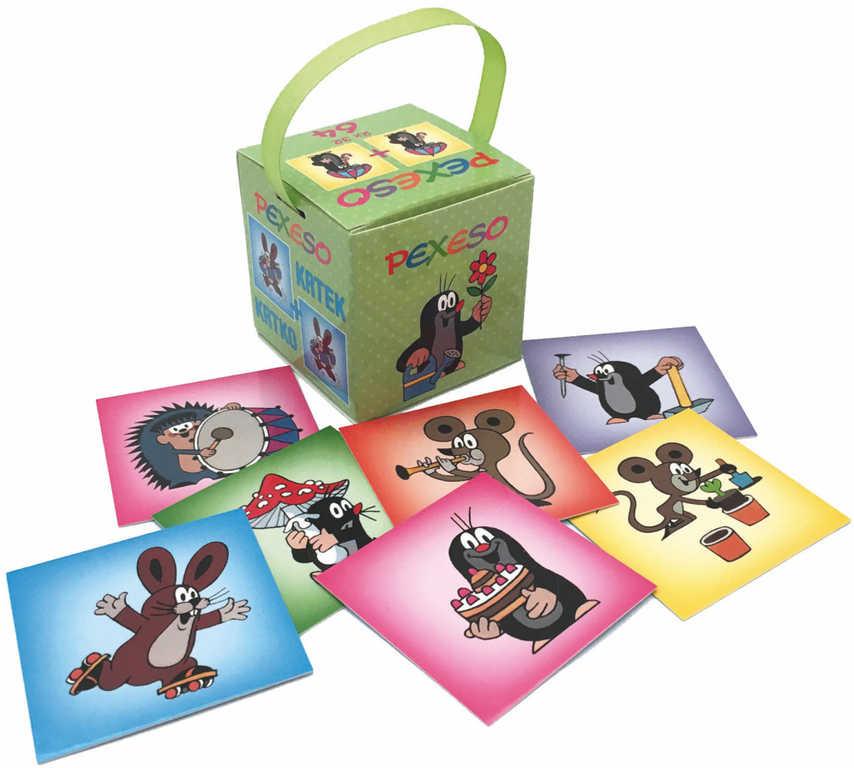 AKIM Hra Pexeso v krabičce se stuhou Krtek (Krteček) set 64 karet
