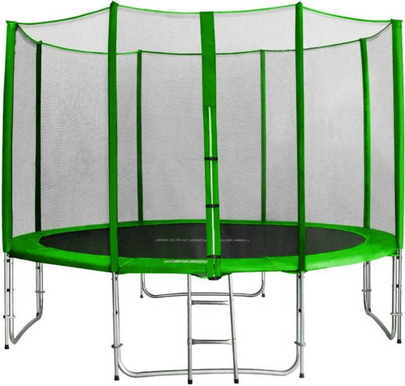 SEDCO Eco trampolína 305cm set se sítí a žebříkem zelená