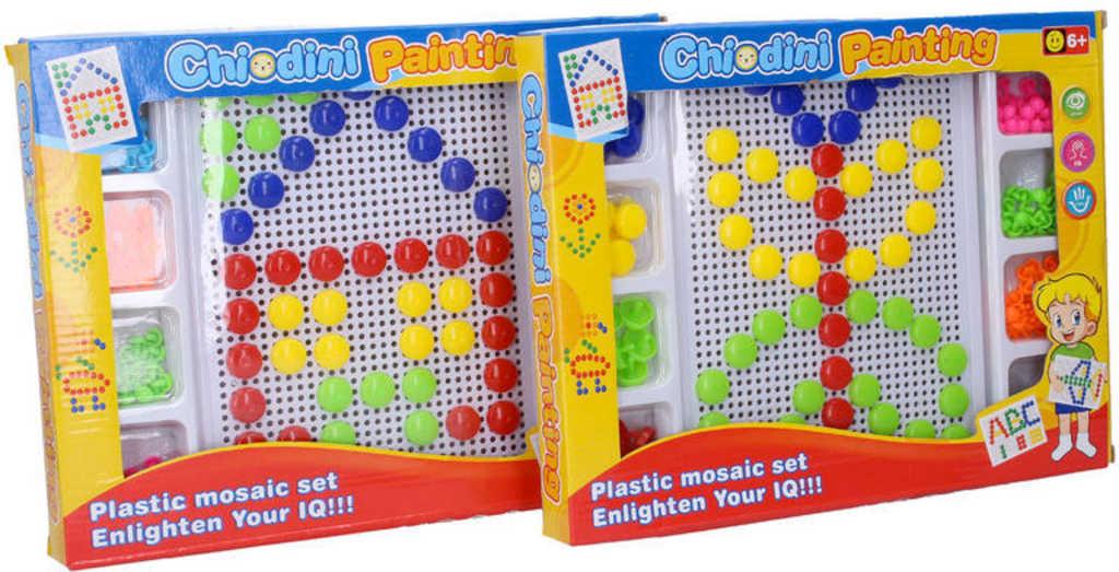 Mozaika barevná hříbečková kreativní set domek / motýl různé druhy
