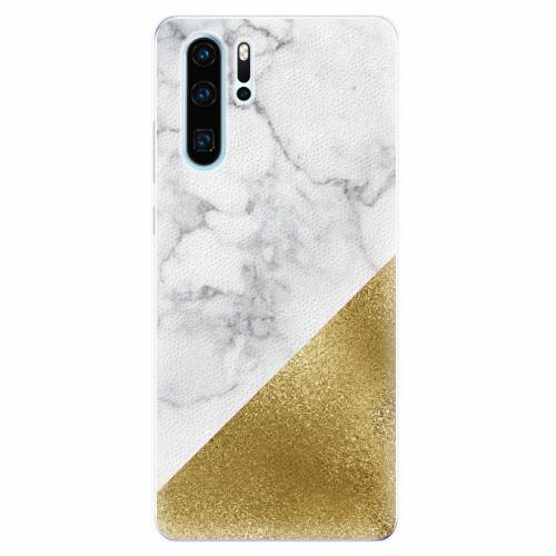 Silikonové pouzdro iSaprio - Gold and WH Marble - Huawei P30 Pro