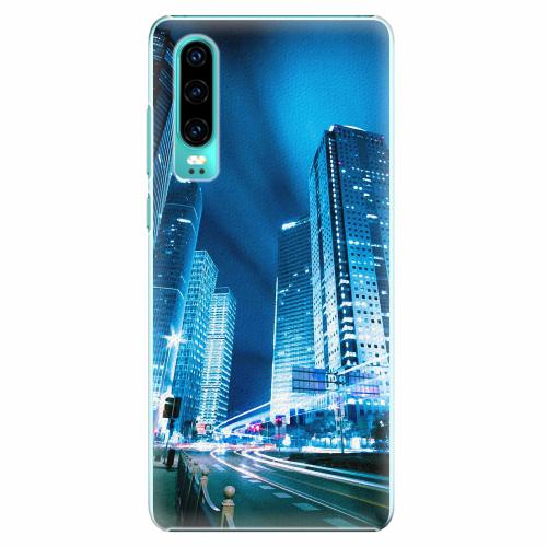 Plastový kryt iSaprio - Night City Blue - Huawei P30