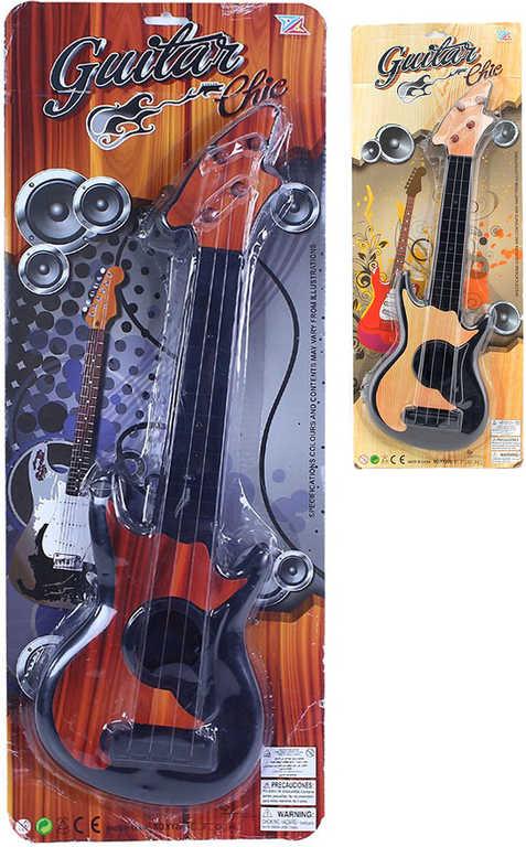 Kytara dětská elektrická 45cm ocelové struny 2 barvy plast HUDEBNÍ NÁSTROJE