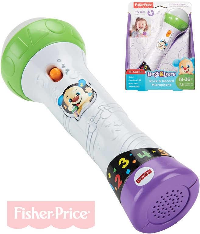 FISHER PRICE Rock mikrofon dětský na baterie se záznamem karaoke s počítáním