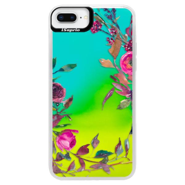 Neonové pouzdro Blue iSaprio - Herbs 01 - iPhone 8 Plus