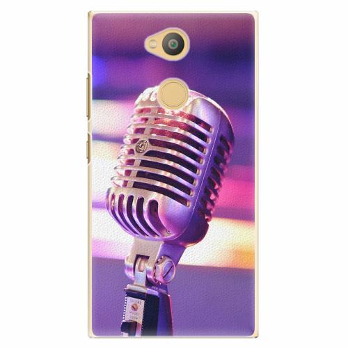 Plastový kryt iSaprio - Vintage Microphone - Sony Xperia L2