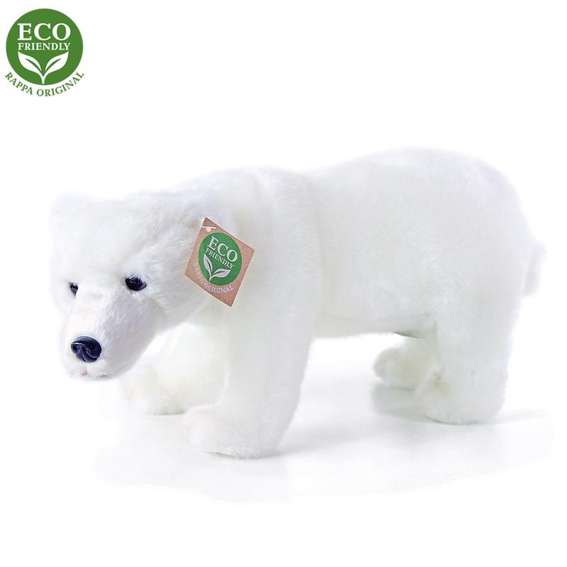 Plyšový medvěd polární stojící 28 cm ECO-FRIENDLY