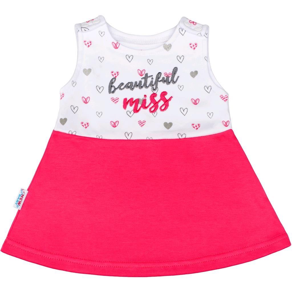 Kojenecké šaty bez rukávů New Baby - růžová/68 (4-6m)