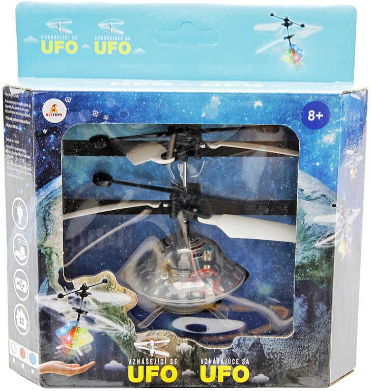UFO létající ovládání pohybem ruky vznášedlo na baterie USB LED Světlo