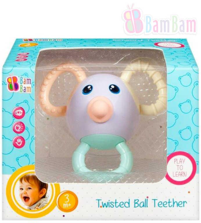 ET BAM BAM Baby kousátko koule zakroucené pro miminko