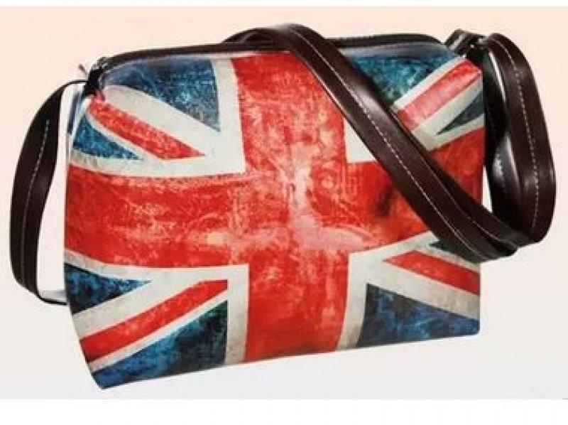Taška přes rameno s nastavitelným popruhem - Union Jack