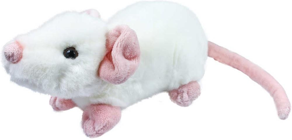 PLYŠ Myška bílá 21cm exkluzivní kolekce *PLYŠOVÉ HRAČKY*
