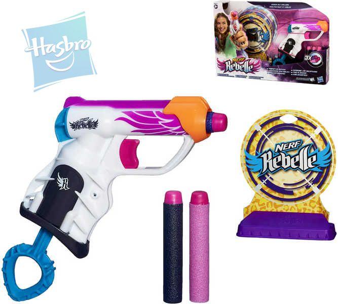 HASBRO NERF Pistole N-Rebelle set s šipkami a terči Pro holky PLAST