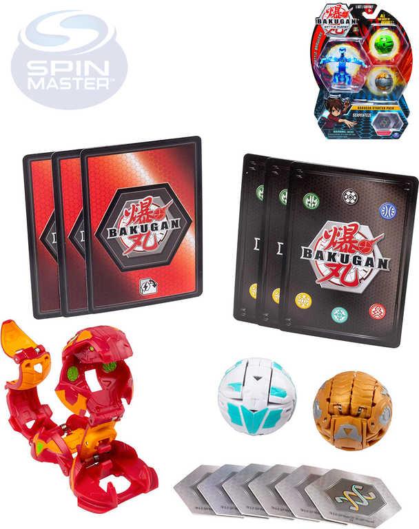 SPIN MASTER Bakugan startovací sběratelský set draci 3ks s doplňky různé druhy