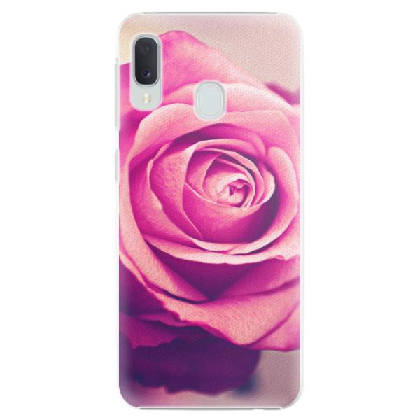 Plastové pouzdro iSaprio - Pink Rose - Samsung Galaxy A20e