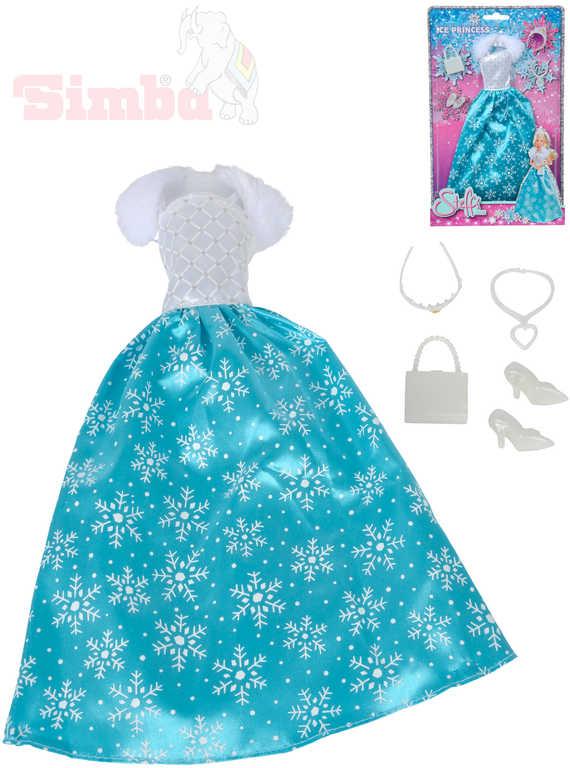 SIMBA Šaty pro panenku Steffi Love Ice Princess set s doplňky
