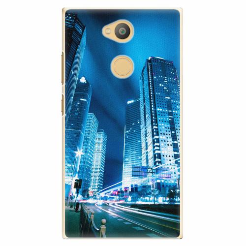 Plastový kryt iSaprio - Night City Blue - Sony Xperia L2