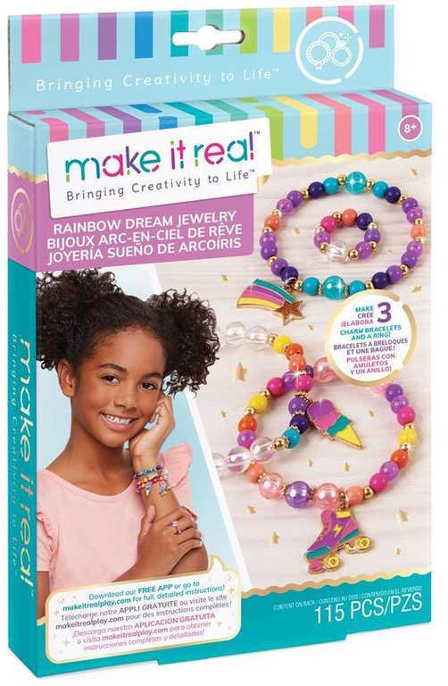 MAKE IT REAL Náramky s přívěsky kreativní set s korálky výroba náramků