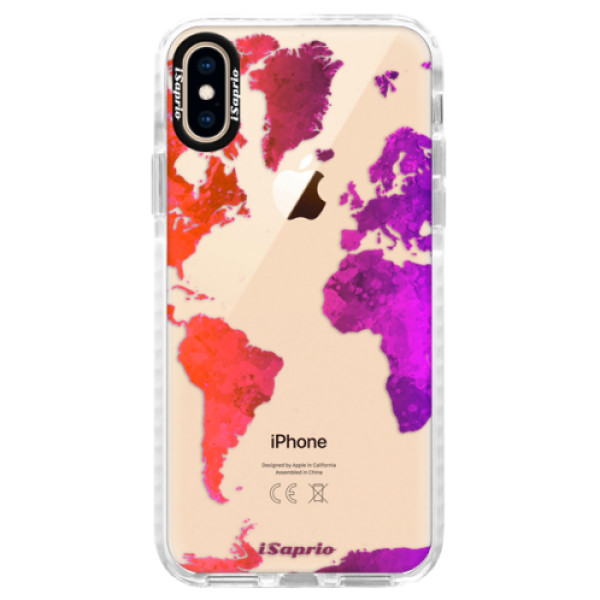 Silikonové pouzdro Bumper iSaprio - Warm Map - iPhone XS
