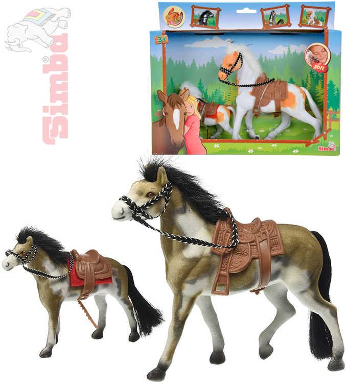 SIMBA Koník s hříbátkem sada Beauty Pferde 3 druhy