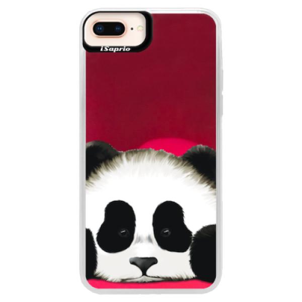 Neonové pouzdro Pink iSaprio - Sad Panda - iPhone 8 Plus