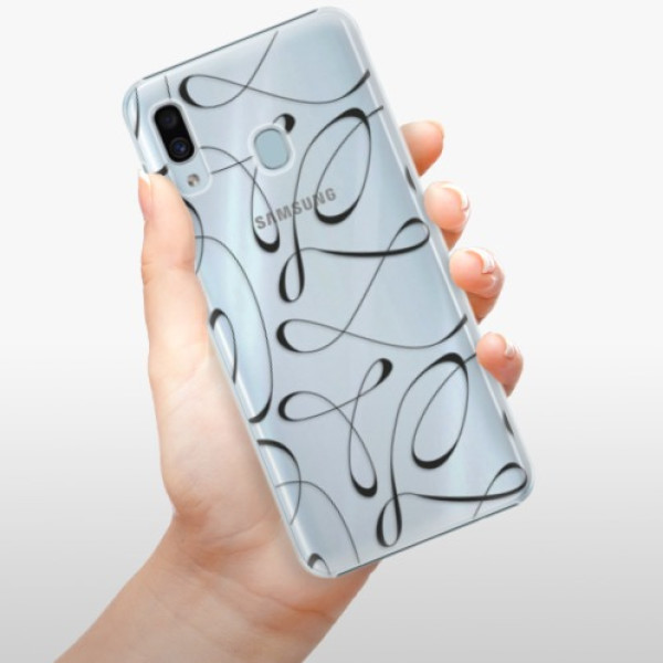 Plastové pouzdro iSaprio - Fancy - black - Samsung Galaxy A30