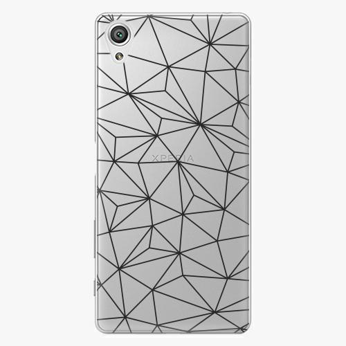 Plastový kryt iSaprio - Abstract Triangles 03 - black - Sony Xperia X